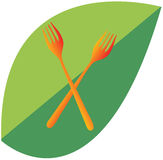 Logotipo da forquilha Imagens de Stock Royalty Free