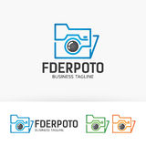 Logotipo da foto do dobrador Foto de Stock Royalty Free