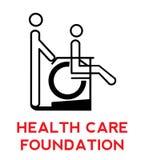 Logotipo da fundação de Ccare da saúde Fotografia de Stock