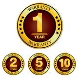 Logotipo da garantia Projeto da garantia isolado no fundo branco Imagens de Stock