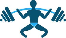 Logotipo da ginástica ilustração stock