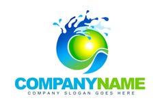 Logotipo da água Imagem de Stock Royalty Free