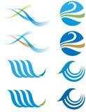 Logotipo da água Imagens de Stock