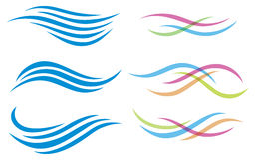 Logotipo da água Fotografia de Stock Royalty Free