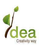 Logotipo da idéia Foto de Stock Royalty Free