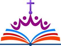 Logotipo da igreja ilustração royalty free