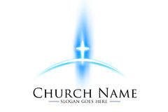 Logotipo da igreja Fotos de Stock Royalty Free