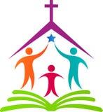 Logotipo da igreja Foto de Stock Royalty Free