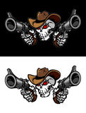 Logotipo da ilustração do crânio do cowboy ilustração stock