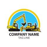 Logotipo da indústria da construção Foto de Stock Royalty Free