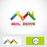 Logotipo da indústria da construção dos bens imobiliários Imagens de Stock Royalty Free