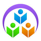 Logotipo da instrução Foto de Stock Royalty Free