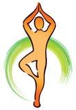 Logotipo da ioga Fotografia de Stock