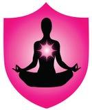 Logotipo da ioga Imagens de Stock Royalty Free