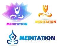 Logotipo da ioga da meditação Foto de Stock Royalty Free