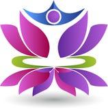 Logotipo da ioga de Lotus ilustração stock