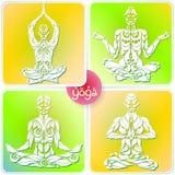 Logotipo da ioga quatro Fotos de Stock