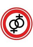 Logotipo da lésbica imagem de stock royalty free