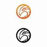 Logotipo da laranja de Eagle Imagens de Stock Royalty Free