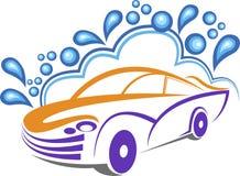 Logotipo da lavagem de carros Fotografia de Stock