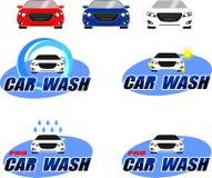 Logotipo da lavagem de carros Imagem de Stock Royalty Free