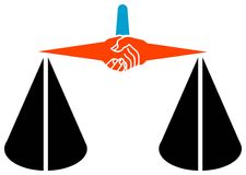Logotipo da legalidade Foto de Stock