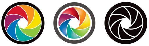 Logotipo da lente Fotografia de Stock