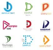 Logotipo da letra D Imagens de Stock Royalty Free