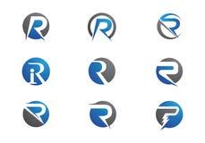 Logotipo da letra de R ilustração stock