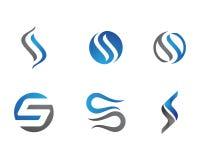 Logotipo da letra de S e do S ilustração stock