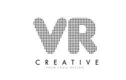Logotipo da letra de VR V R com pontos e as fugas pretos Fotos de Stock