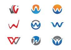 Logotipo da letra de W ilustração do vetor
