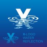 Logotipo X da letra do espelho Foto de Stock Royalty Free