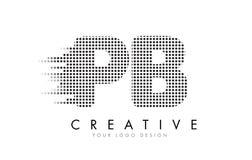 Logotipo da letra do PB P B com pontos e as fugas pretos Imagens de Stock