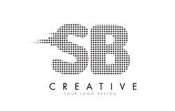 Logotipo da letra do SB S B com pontos e as fugas pretos Foto de Stock Royalty Free
