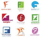 Logotipo da letra F Fotos de Stock Royalty Free