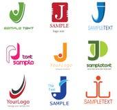 Logotipo da letra J ilustração stock