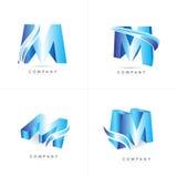 Logotipo da letra M Fotografia de Stock
