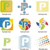 Logotipo da letra P ilustração stock