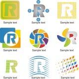 Logotipo da letra R ilustração stock