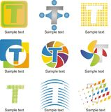 Logotipo da letra T Fotografia de Stock