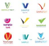 Logotipo da letra V ilustração stock