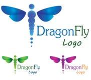 Logotipo da libélula Imagens de Stock