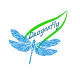 Logotipo da libélula Fotos de Stock Royalty Free