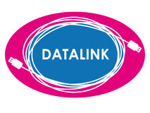 Logotipo da ligação de dados Fotografia de Stock Royalty Free