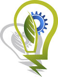 Logotipo da lâmpada de Eco Fotografia de Stock