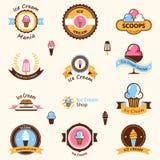 Logotipo da loja de gelado Imagens de Stock Royalty Free