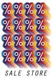 Logotipo da loja de venda Fotografia de Stock Royalty Free
