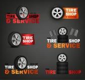 Logotipo da loja do pneu Fotografia de Stock Royalty Free
