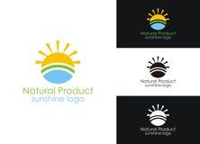 Logotipo da luz do sol Imagens de Stock Royalty Free